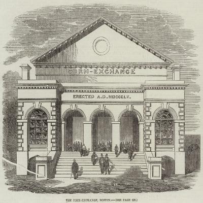 The Corn-Exchange, Boston--Giclee Print