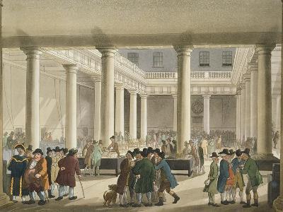The Corn Exchange from Ackermann's 'Microcosm of London', 1808 (Aquatint)-T Rowlandson-Giclee Print