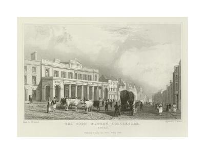 The Corn Market, Colchester, Essex-William Henry Bartlett-Giclee Print
