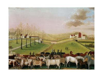 The Cornell Farm, 1848-Edward Hicks-Giclee Print