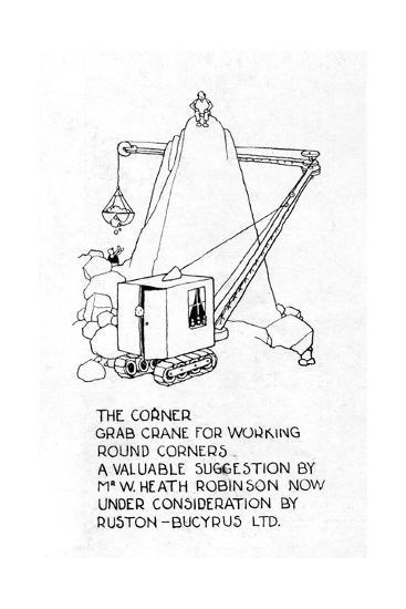 The Corner Grab Crane-William Heath Robinson-Giclee Print