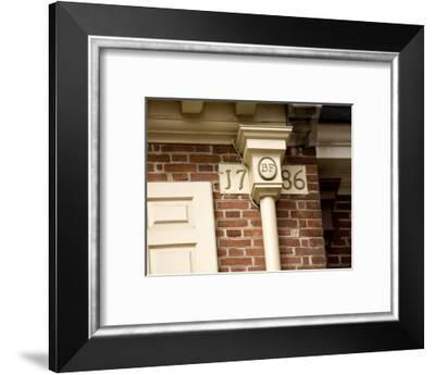 The Cornerstone of Franklin Court, The Home of Benjamin Franklin-Tim Laman-Framed Photographic Print