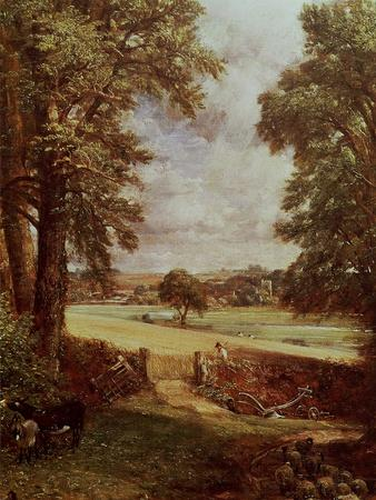 The Cornfield, Detail of the Harvester, 1826-John Constable-Premium Giclee Print