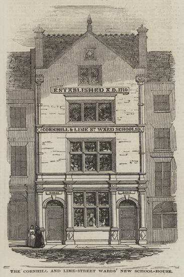 The Cornhill and Lime-Street Wards' New School-House--Giclee Print