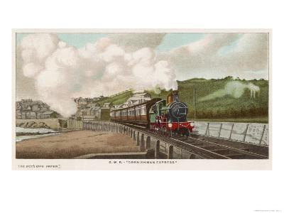 """The """"Cornishman"""" Express of the Great Western Railway Carries Passengers from London to Cornwall-F. Moore-Giclee Print"""
