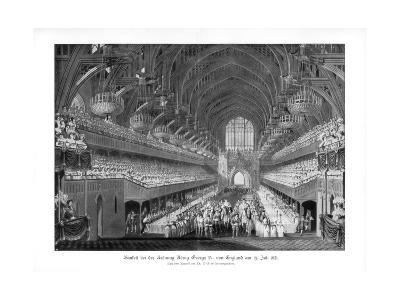 The Coronation Banquet of George IV at Westminster Hall, London, 19 July 1821--Giclee Print