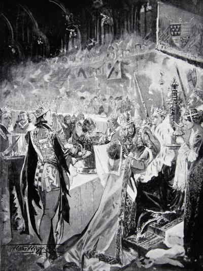 The Coronation Banquet of Henry IV--Giclee Print