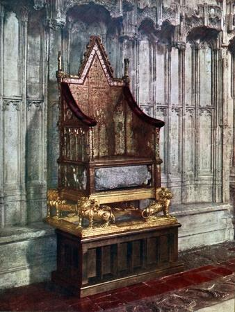 The Coronation Chair with the Stone of Scone Westminster Abbey London 1937  sc 1 st  Art.com & The Coronation Chair with the Stone of Scone Westminster Abbey ...