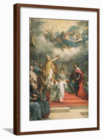 The Coronation of Charlemagne-Henri Leopold Levy-Framed Giclee Print