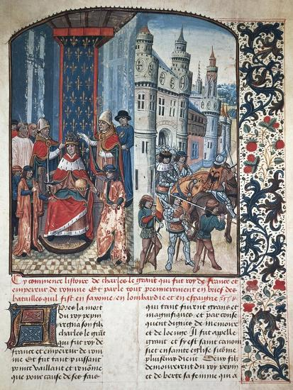 The Coronation of Charlemagne--Giclee Print
