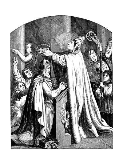 The Coronation of Emperor Charlemagne by Pope Leo III, 1840-Johann Jakob Kirchhoff-Giclee Print