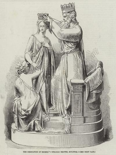 The Coronation of Esther, William Beattie, Sculptor--Giclee Print