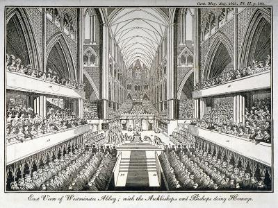 The Coronation of George IV in Westminster Abbey, London, 1821--Giclee Print