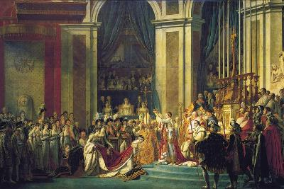 The Coronation of Napoleon at Notre-Dame De Paris on 2nd December 1804, 1807-Jacques Louis David-Giclee Print