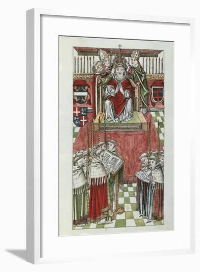 The Coronation of Pope Oddone Colonna with the Name Martin V--Framed Giclee Print