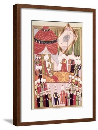 "The Coronation of Sultan Selim I from the ""Hunername"" by Lokman--Framed Giclee Print"
