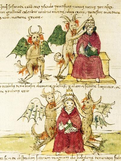 The Coronation of the Antipope, Miniature from Manuscript Latin III 177 Folio 41--Giclee Print