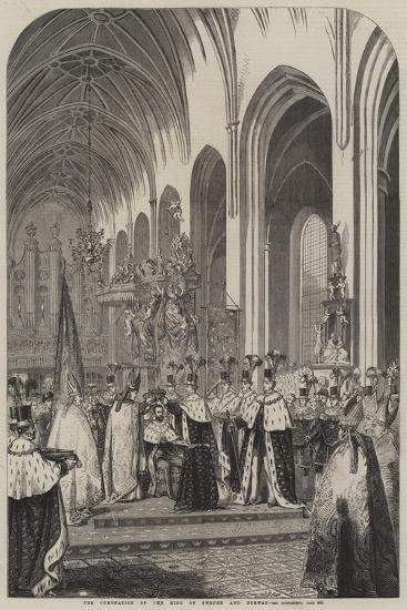 The Coronation of the King of Sweden and Norway--Giclee Print