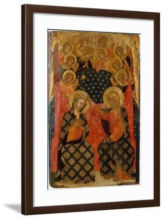 The Coronation of the Virgin, 1360S- Caterino Veneziano I -Framed Giclee Print
