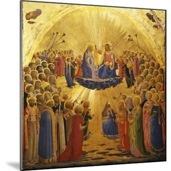 The Coronation of the Virgin, 1434-1435-Fra Angelico-Mounted Giclee Print