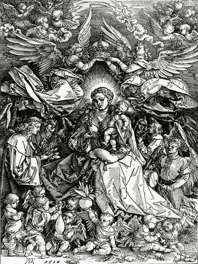 The Coronation of the Virgin and Child, 1518 (Woodcut)-Albrecht D?rer-Giclee Print