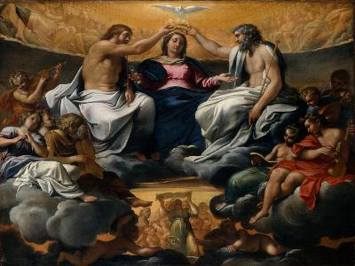 The Coronation of the Virgin, c.1595-Annibale Carracci-Giclee Print