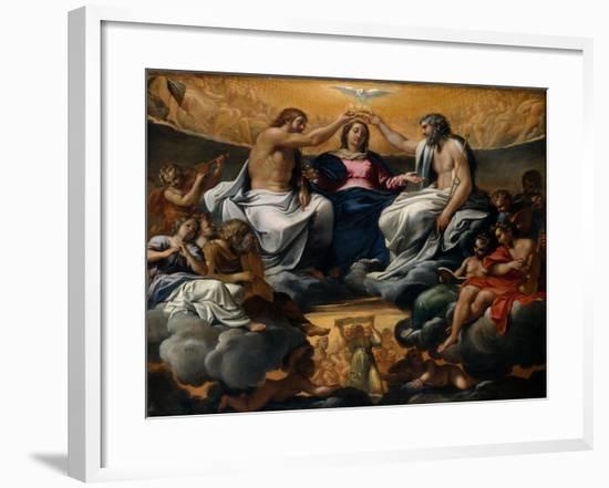The Coronation of the Virgin, c.1595-Annibale Carracci-Framed Giclee Print