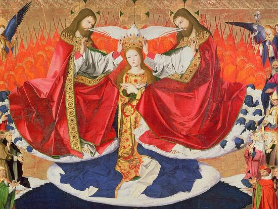 The Coronation of the Virgin, Completed 1453-Enguerrand Quarton-Giclee Print