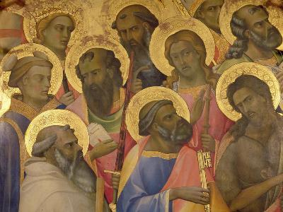 The Coronation of the Virgin, Detail of the Faces of the Saints, 1413-Lorenzo Monaco-Giclee Print