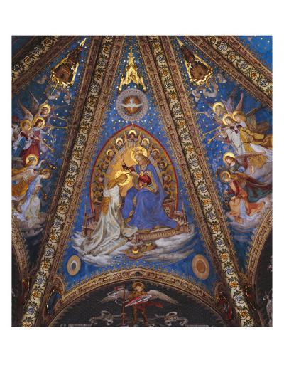 The Coronation of the Virgin Mary--Giclee Print