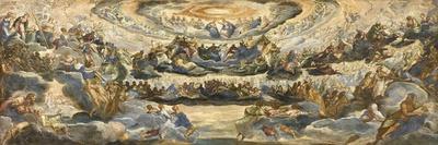 The Coronation of the Virgin (Paradis)-Jacopo Tintoretto-Giclee Print