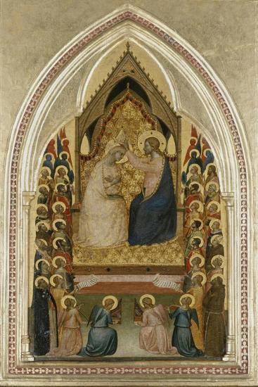 The Coronation of the Virgin with Angels and Saints, C.1340-5-Bernardo Daddi-Giclee Print