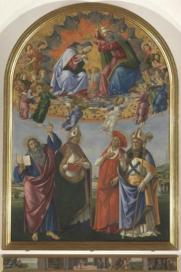 The Coronation of the Virgin with St John the Evangelist-Sandro Botticelli-Giclee Print