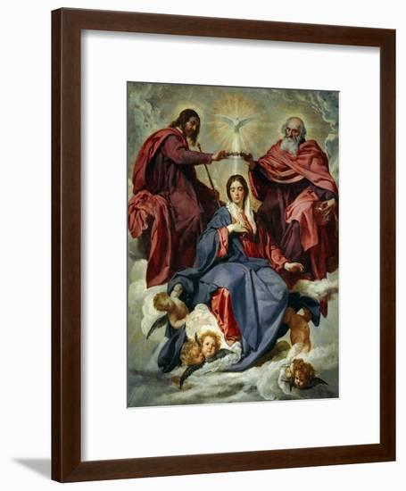 The Coronation of the Virgin-Diego Velazquez-Framed Giclee Print
