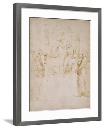 The Coronation of the Virgin-Raphael-Framed Giclee Print