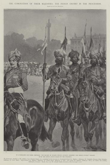 The Coronation of their Majesties, the Indian Escort in the Procession-Richard Caton Woodville II-Giclee Print