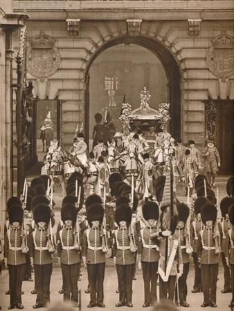 'The Coronation Procession to the Abbey', 1937-Unknown-Framed Photographic Print