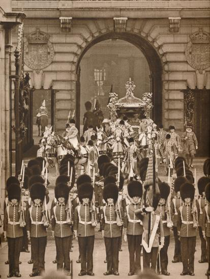 'The Coronation Procession to the Abbey', 1937-Unknown-Photographic Print