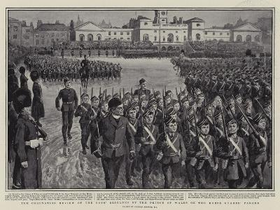 The Coronation Review of the Boys' Brigades by the Prince of Wales on the Horse Guards' Parade-Gordon Frederick Browne-Giclee Print