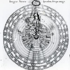 The Correspondence Between the Human and the Universe, from Robert Fludd's 'Utriusque Cosmi…