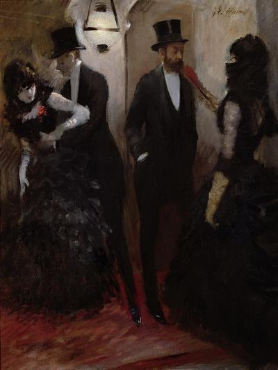 The Corridors at the Opera, 1885-Jean Louis Forain-Giclee Print