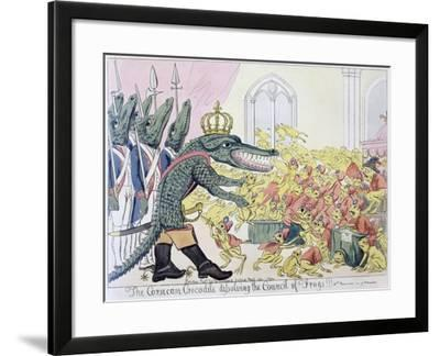 The Corsican Crocodile Dissolving the Council of Frogs, 9th November 1799--Framed Giclee Print