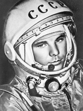 Poster First Cosmonaut Gagarin Soviet Russian Space Rocket Astronaut Reprint New
