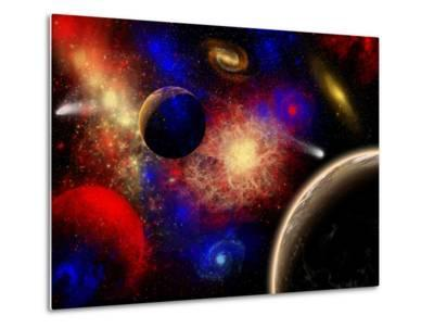 The Cosmos Is a Place of Outstanding Natural Beauty and Wonder-Stocktrek Images-Metal Print