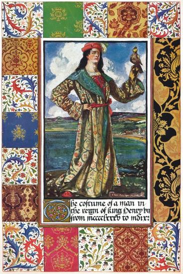 The Costume of a Man in the Reign of King Henry VII, 15th century, (1904)-Unknown-Giclee Print