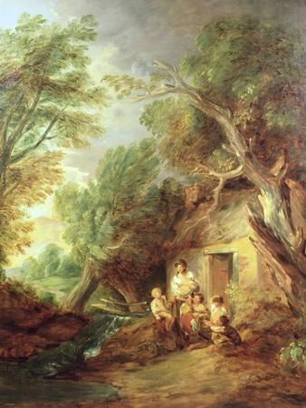 the cottage door 1780s giclee print by thomas gainsborough art com rh art com Irish Cottage Doors Doors Country Cottage