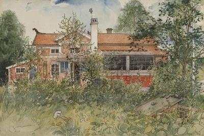 The Cottage, from 'A Home' Series, c.1895-Carl Larsson-Framed Giclee Print