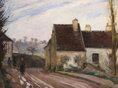 The Cottages Near D'Osny, Les Masures Pres D'Osny, 1872-Camille Pissarro-Giclee Print