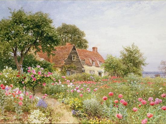 The Cottar's Pride - a Cottage Garden-Henry Sutton Palmer-Giclee Print