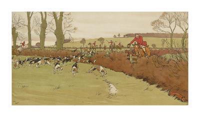 The Cottesbrook Hunt (Nearing the End)-Cecil Aldin-Premium Giclee Print